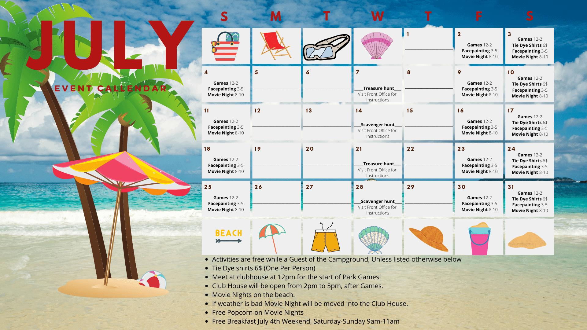 July Activities